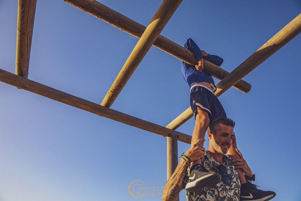 Fotografías de familias originales en los Caños de la Meca Cadiz